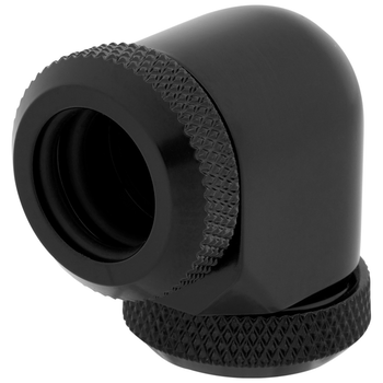 Product image of Corsair Hydro X Series XF HL Black 90 Degree Fittings (12mm OD) 2 Pack - Click for product page of Corsair Hydro X Series XF HL Black 90 Degree Fittings (12mm OD) 2 Pack