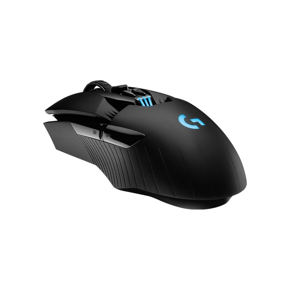 A large main feature product image of Logitech G903 HERO LIGHTSPEED Cordless Optical Gaming Mouse Black