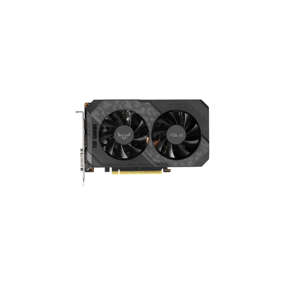 A large main feature product image of ASUS GeForce GTX1660Ti TUF Gaming OC 6GB GDDR5