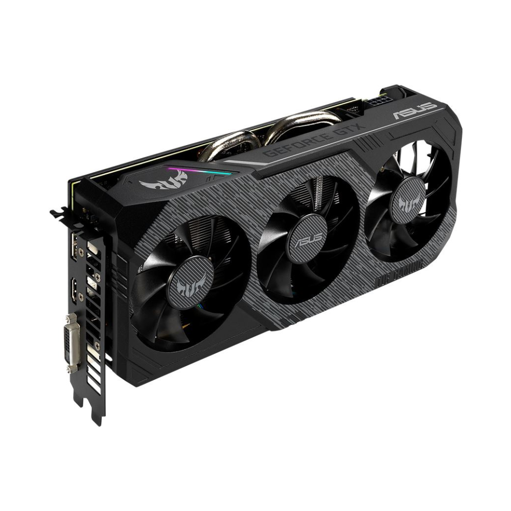 A large main feature product image of ASUS GeForce GTX1660 TUF Gaming X3 6GB GDDR5