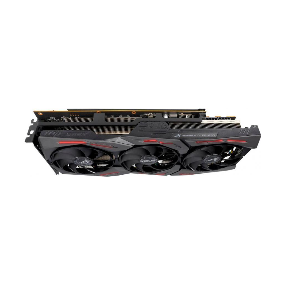 A large main feature product image of ASUS Radeon RX 5700 XT ROG Strix OC 8GB GDDR6