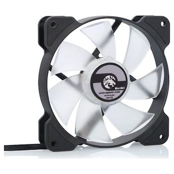 Product image of Bykski 120mm RBW Black/White Cooling Fan (V2) - Click for product page of Bykski 120mm RBW Black/White Cooling Fan (V2)