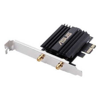 Product image of ASUS PCE-AX58BT 802.11ax Dual-Band Wireless-AX3000 PCIe Adapter with Bluetooth - Click for product page of ASUS PCE-AX58BT 802.11ax Dual-Band Wireless-AX3000 PCIe Adapter with Bluetooth