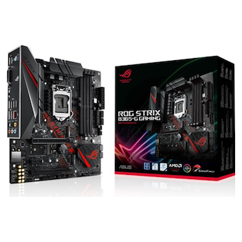 Product image of ASUS ROG Strix B365-G Gaming LGA1151-CL mATX Desktop Motherboard - Click for product page of ASUS ROG Strix B365-G Gaming LGA1151-CL mATX Desktop Motherboard
