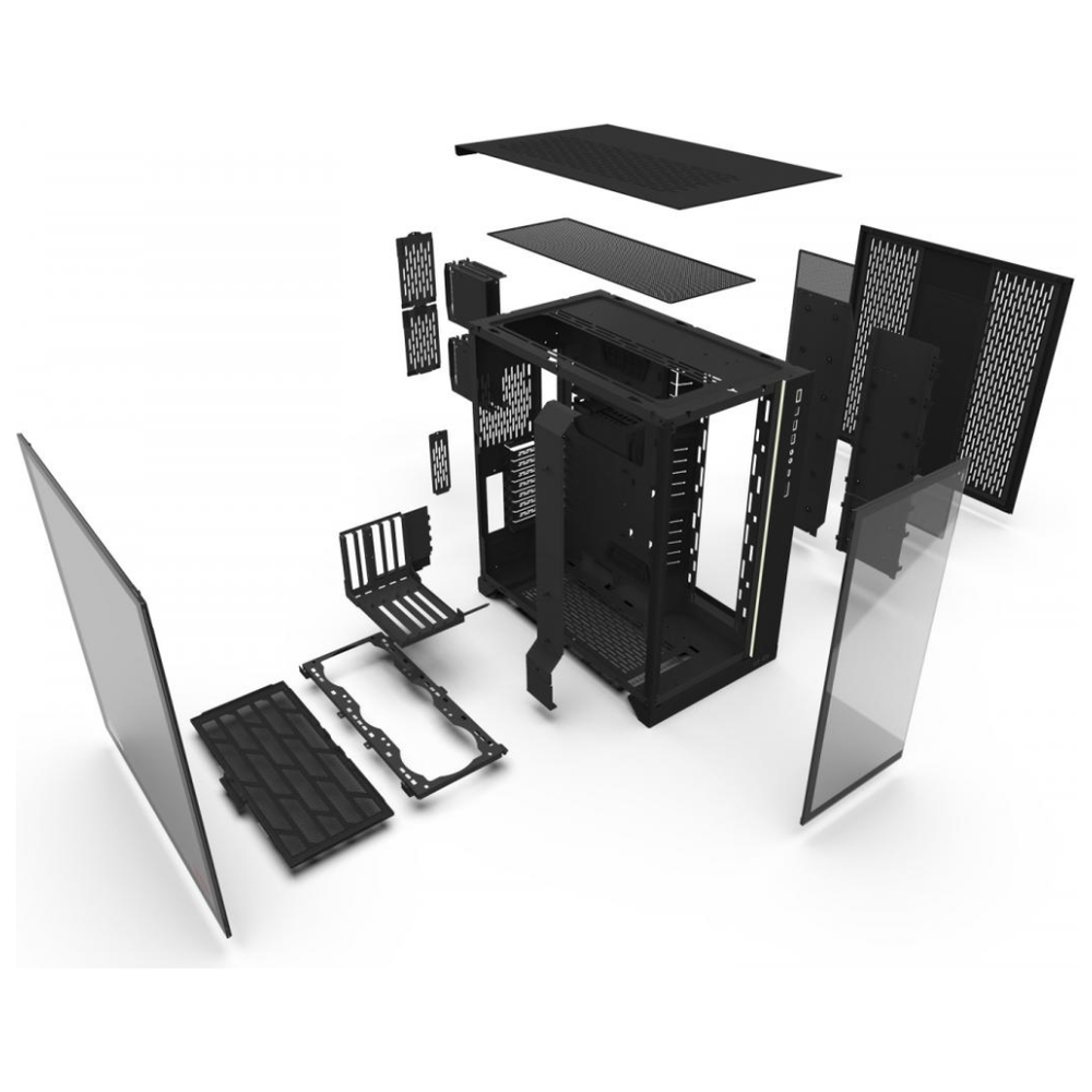 A large main feature product image of Lian-Li PC-O11 Dynamic XL ROG Certified Full Tower Case - Black