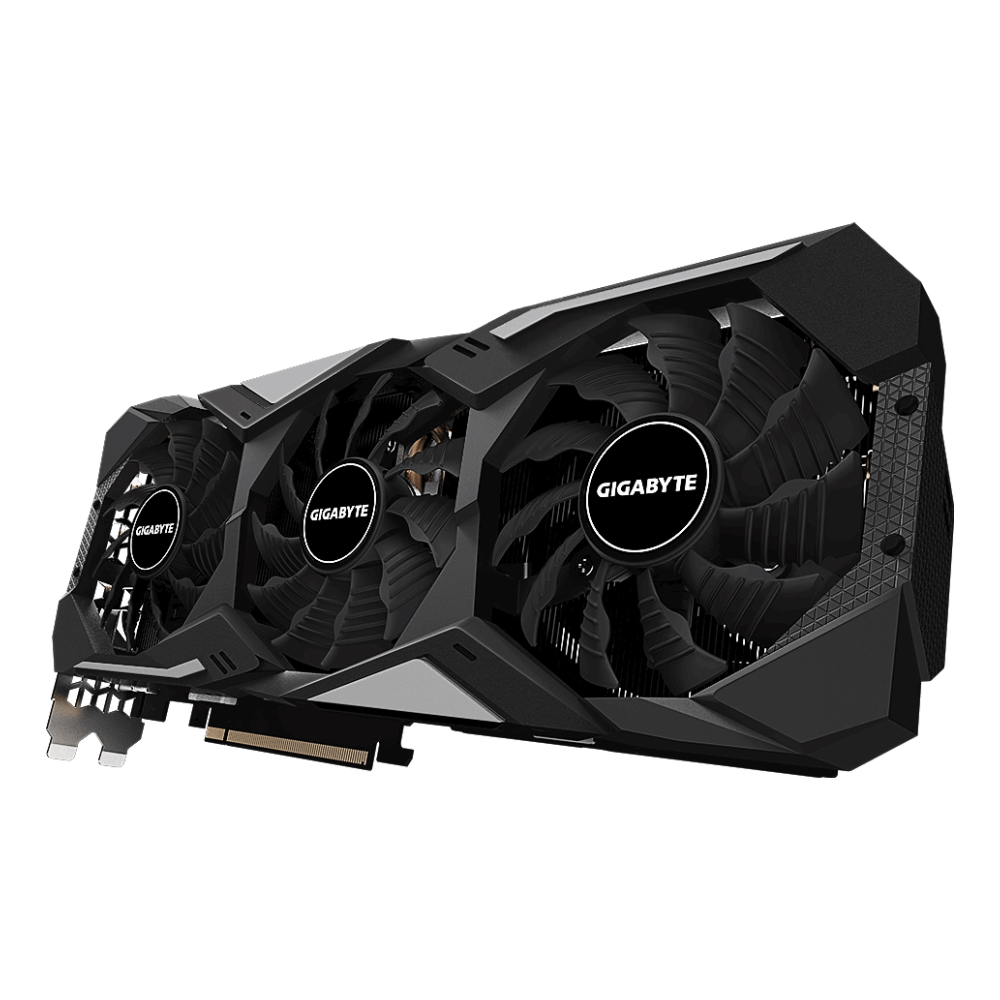 A large main feature product image of Gigabyte GeForce RTX2070 Super Gaming OC 8GB GDDR6