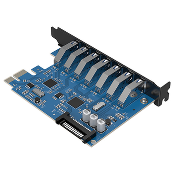 Product image of ORICO USB3.0 7-Port PCIe Expansion Card - Click for product page of ORICO USB3.0 7-Port PCIe Expansion Card