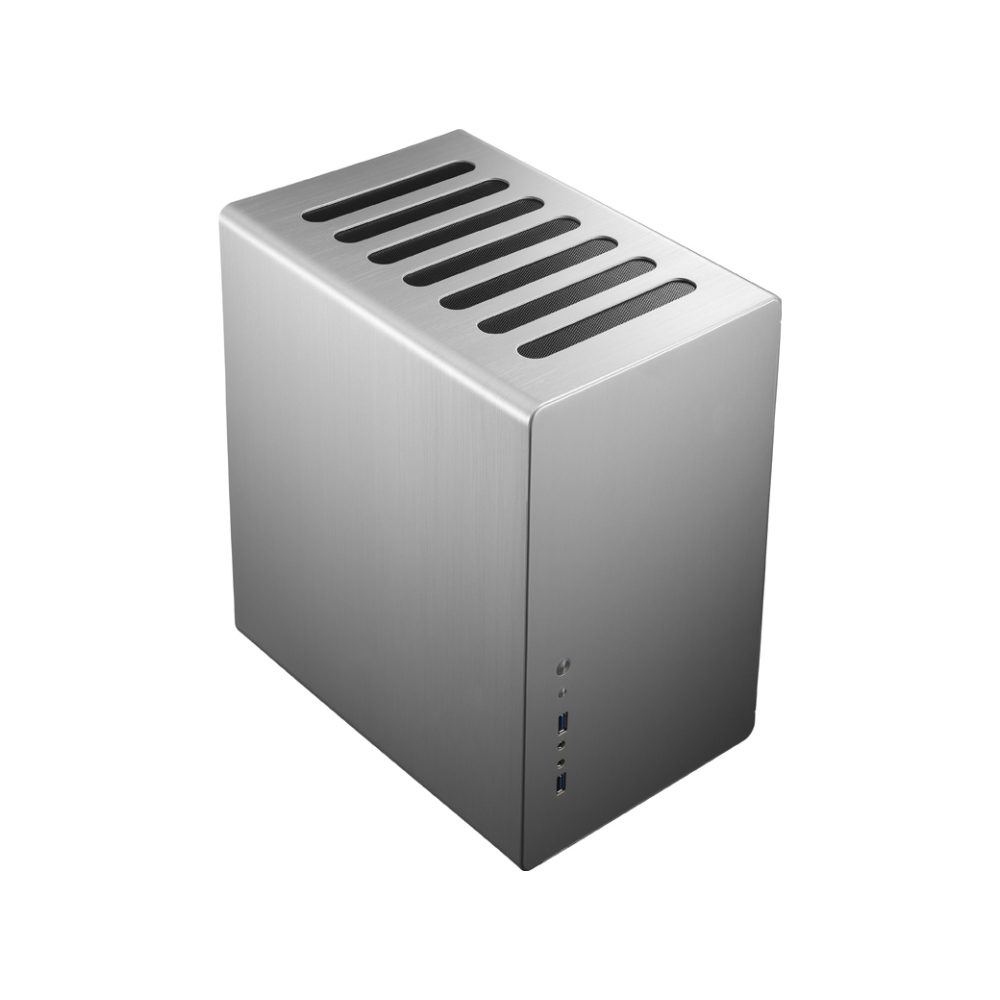 A large main feature product image of Jonsbo RM2 Silver ATX Case