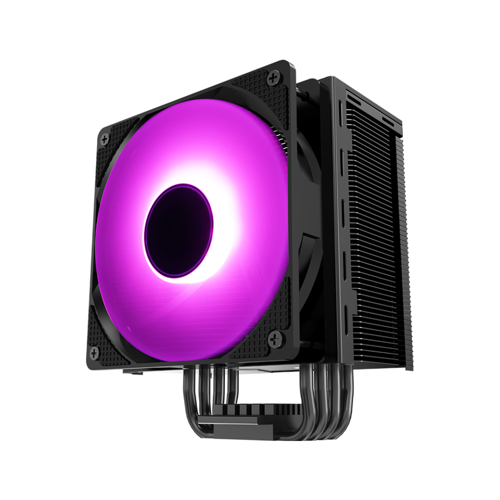 A large main feature product image of Jonsbo CR-201 Black RGB LED CPU Cooler