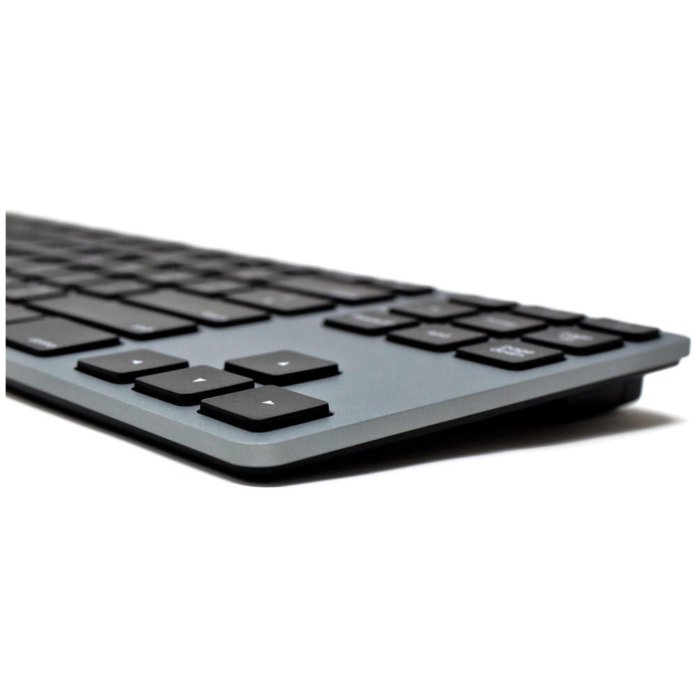 A large main feature product image of Matias Space Gray Wired Aluminium Tenkeyless Keyboard for Mac