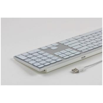 Matias Silver RGB Backlit Wired Aluminum Keyboard for Mac