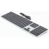 A product image of Matias Black/Silver Plastic Keyboard For Mac
