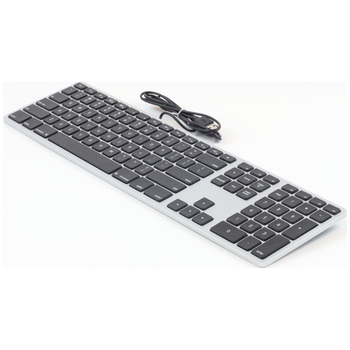 Product image of Matias Black/Silver Plastic Keyboard For Mac - Click for product page of Matias Black/Silver Plastic Keyboard For Mac
