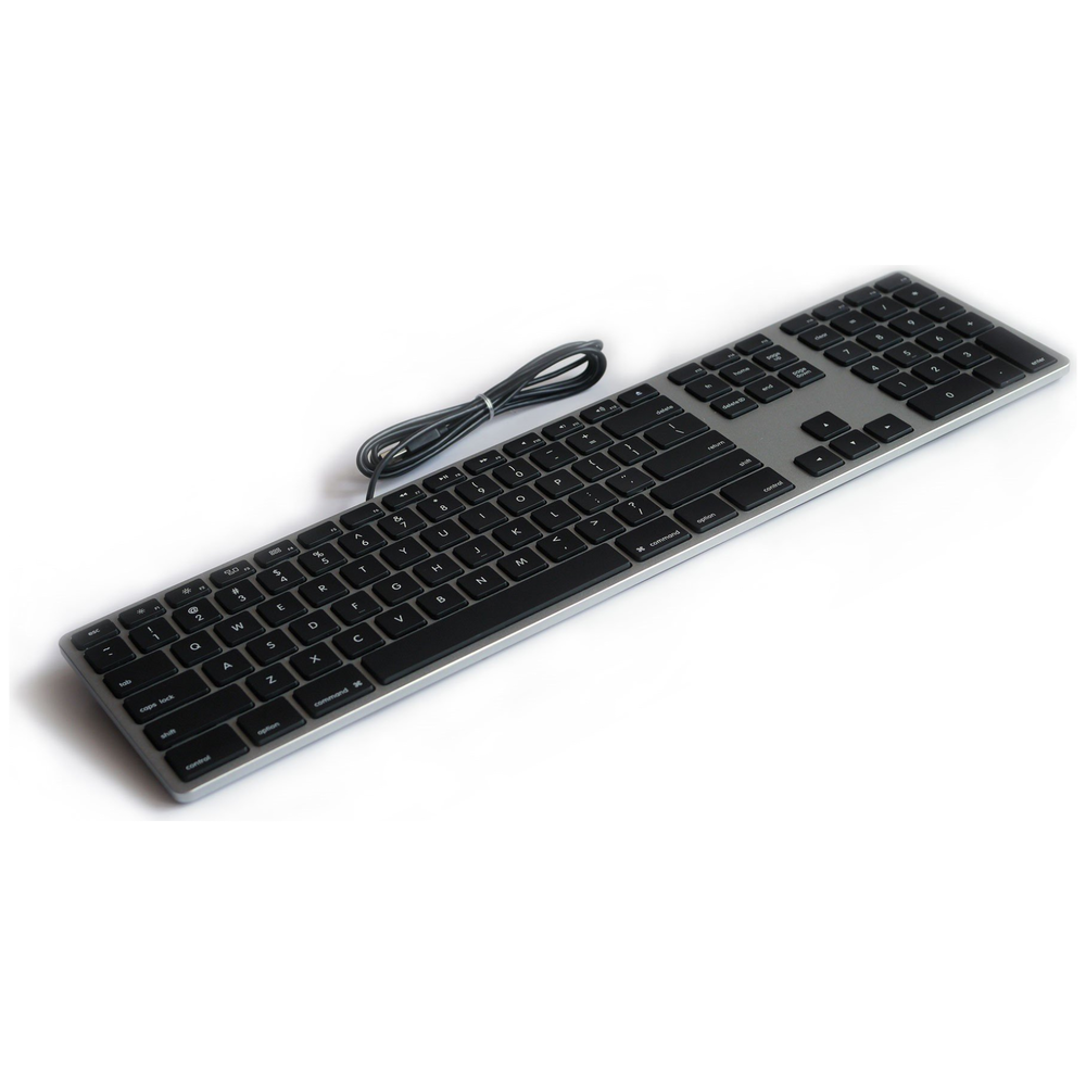 A large main feature product image of Matias Space Grey Aluminium Keyboard For Mac