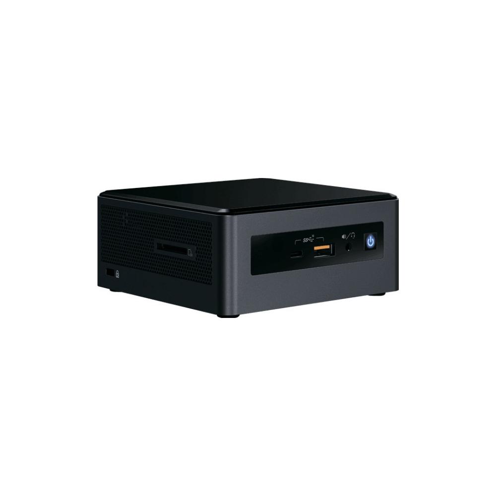 A large main feature product image of Intel NUC Gen8 Islay Canyon i5 Mini PC w/8GB RAM