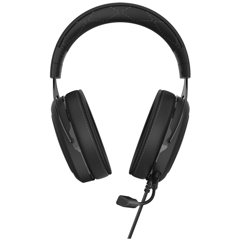 A large main feature product image of Corsair Gaming HS60 PRO SURROUND Carbon Gaming Headset