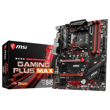 Product image of MSI B450 Gaming Plus Max AM4 ATX Desktop Motherboard - Click for product page of MSI B450 Gaming Plus Max AM4 ATX Desktop Motherboard