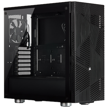Product image of Corsair 275R Airflow Black Mid Tower Case w/Tempered Glass Side Panel - Click for product page of Corsair 275R Airflow Black Mid Tower Case w/Tempered Glass Side Panel