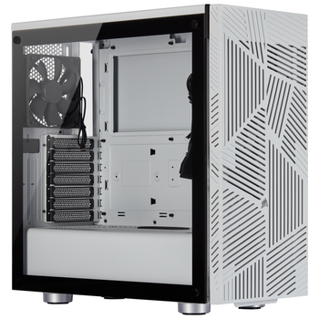 Product image of Corsair 275R Airflow White Mid Tower Case w/Tempered Glass Side Panel - Click for product page of Corsair 275R Airflow White Mid Tower Case w/Tempered Glass Side Panel