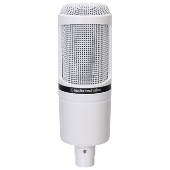 Product image of Audio Technica AT2020 White Cardioid Condenser Studio Microphone - Click for product page of Audio Technica AT2020 White Cardioid Condenser Studio Microphone