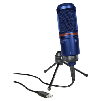 Product image of Audio Technica AT2020USB+ Blue Condenser Microphone with USB output - Click for product page of Audio Technica AT2020USB+ Blue Condenser Microphone with USB output