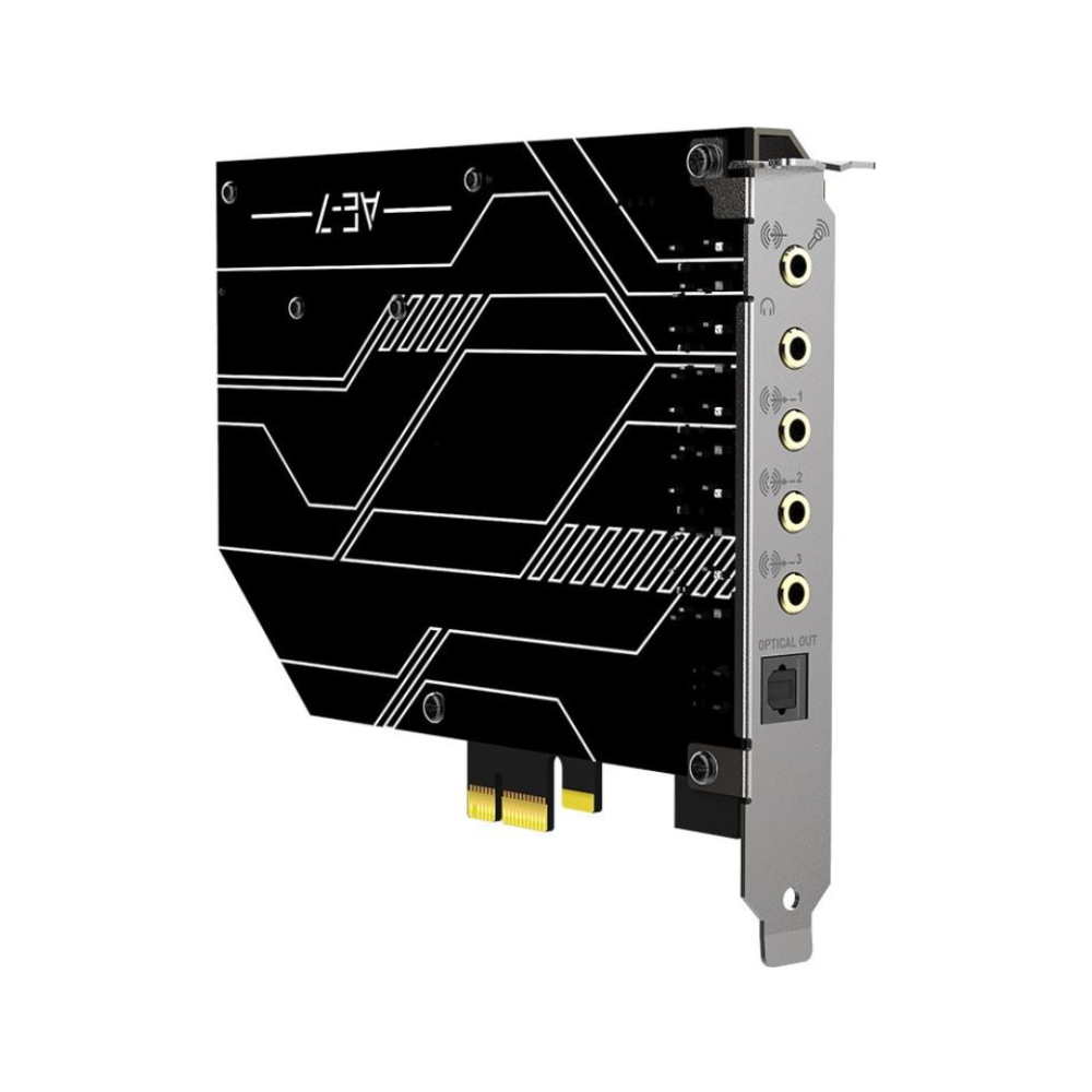A large main feature product image of Creative Sound Blaster AE-7 Hi-Res PCI-e Dac and Amp Sound Card