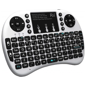 Product image of RiiTek i8+ Wireless Keyboard w/Touchpad - White - Click for product page of RiiTek i8+ Wireless Keyboard w/Touchpad - White