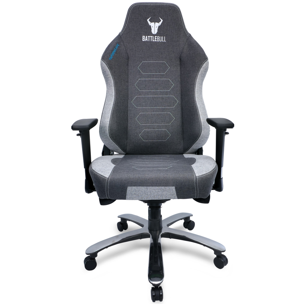 A large main feature product image of BattleBull Vaporweave Gaming Chair Dark Grey/White