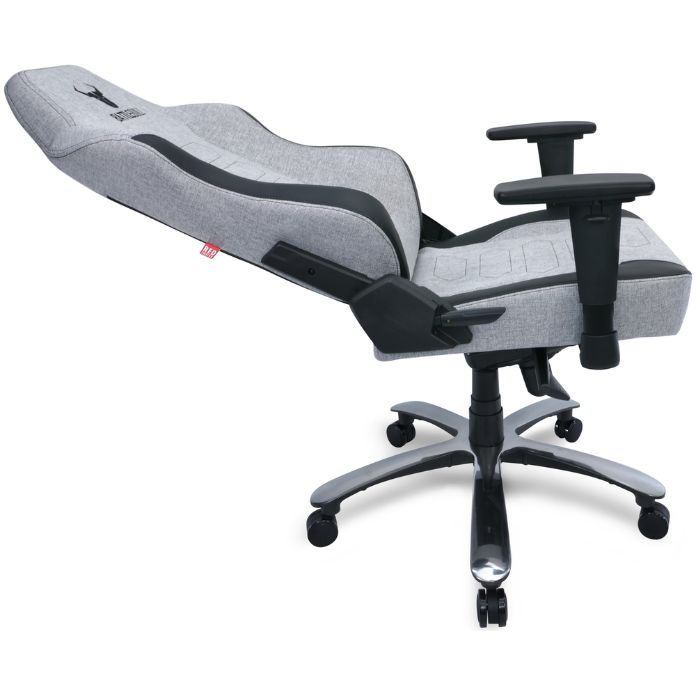 A large main feature product image of BattleBull Vaporweave Gaming Chair Grey/Black