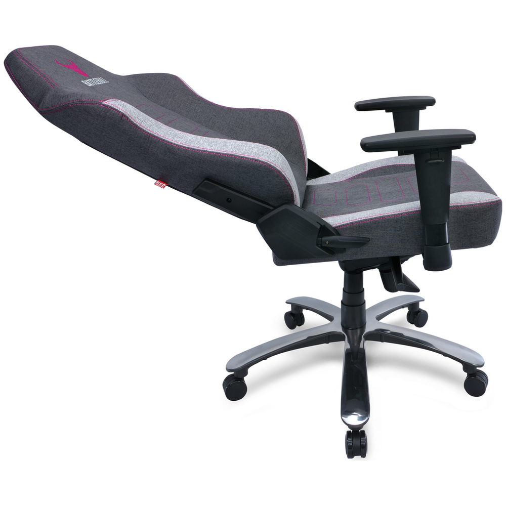 A large main feature product image of BattleBull Vaporweave Gaming Chair Dark Grey/Pink