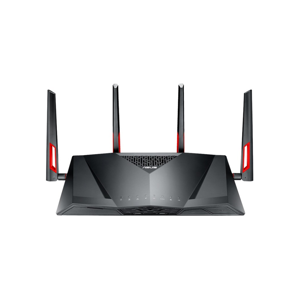 A large main feature product image of ASUS DSL-AC88U 802.11ac Dual-Band Wireless-AC3100 Gigabit ADSL/VDSL Modem Router