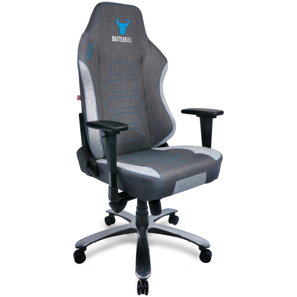 A large main feature product image of BattleBull Vaporweave Gaming Chair Dark Grey/Turquoise