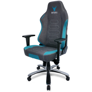 Product image of BattleBull Vaporweave Gaming Chair Grey/Turquoise - Click for product page of BattleBull Vaporweave Gaming Chair Grey/Turquoise