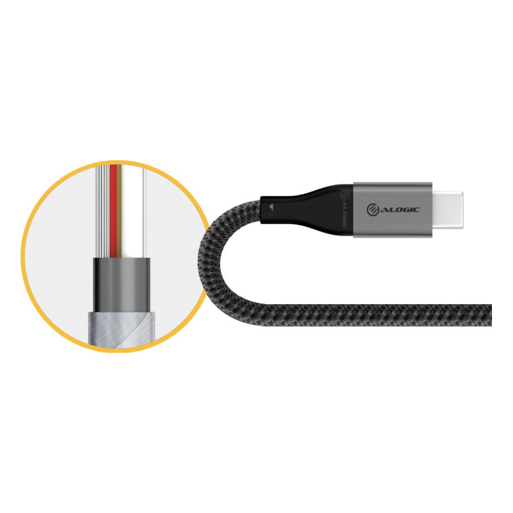 A large main feature product image of ALOGIC Super Ultra USB 3.1 USB Type-C To USB-A Adapter - Space Grey