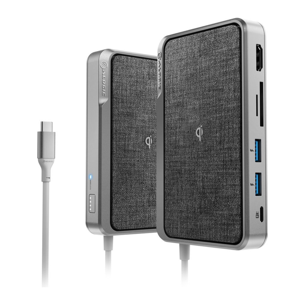 A large main feature product image of ALOGIC All-In-One USB Type-C Hub w/Power Delivery & Wireless Charging