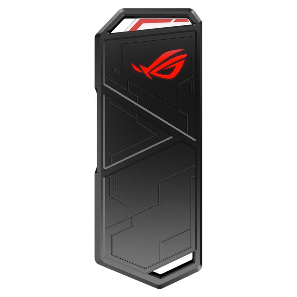 A large main feature product image of ASUS ROG Strix Arion USB-C NVMe M.2 Enclosure