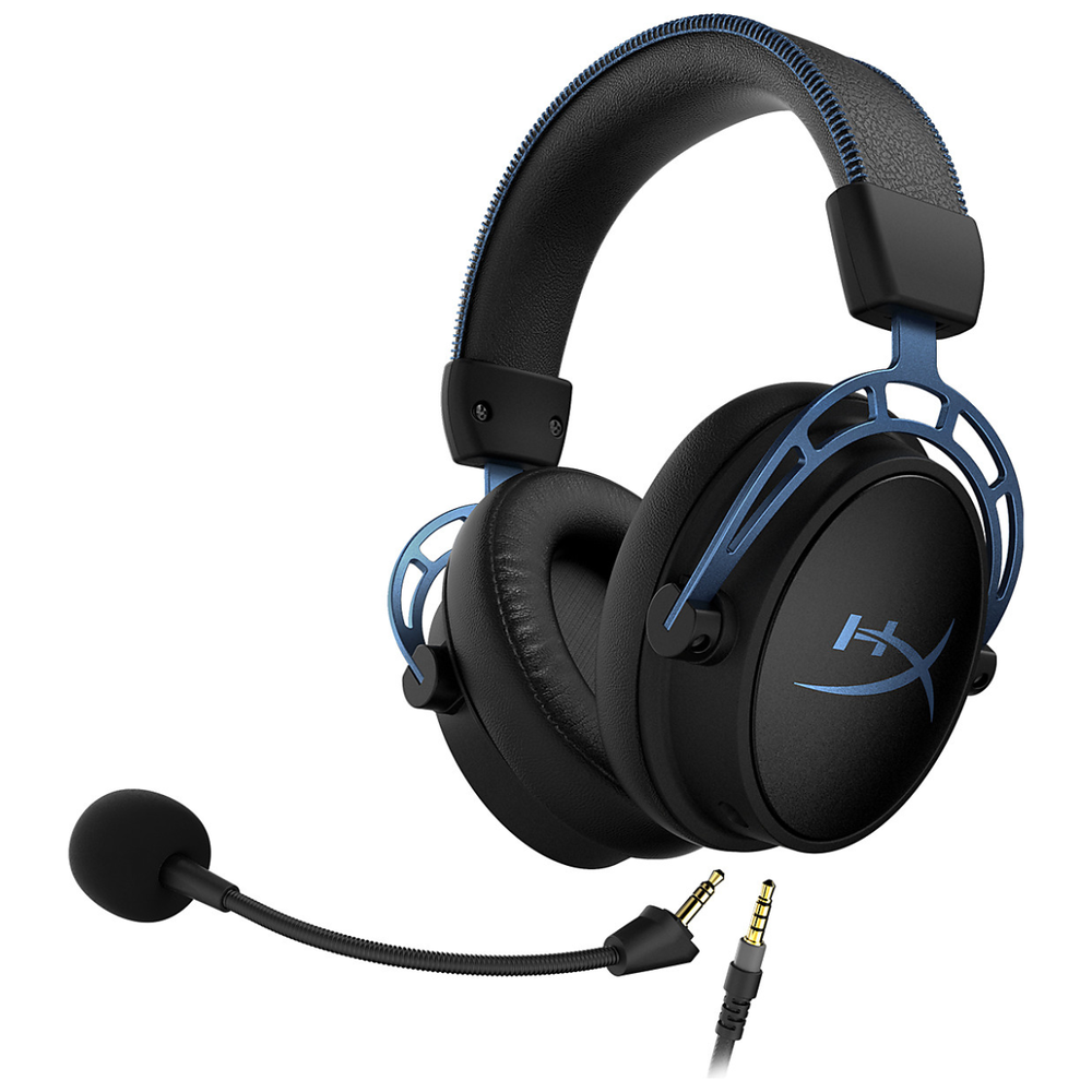 A large main feature product image of Kingston HyperX Cloud Alpha S Gaming Headset