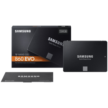 "Product image of Samsung 860 EVO Series 2.5"" 7mm 500GB SSD - Click for product page of Samsung 860 EVO Series 2.5"" 7mm 500GB SSD"
