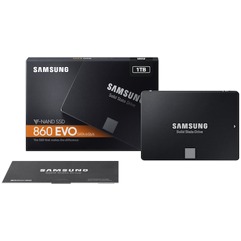 "Product image of Samsung 860 EVO Series 2.5"" 7mm 1TB SSD - Click for product page of Samsung 860 EVO Series 2.5"" 7mm 1TB SSD"