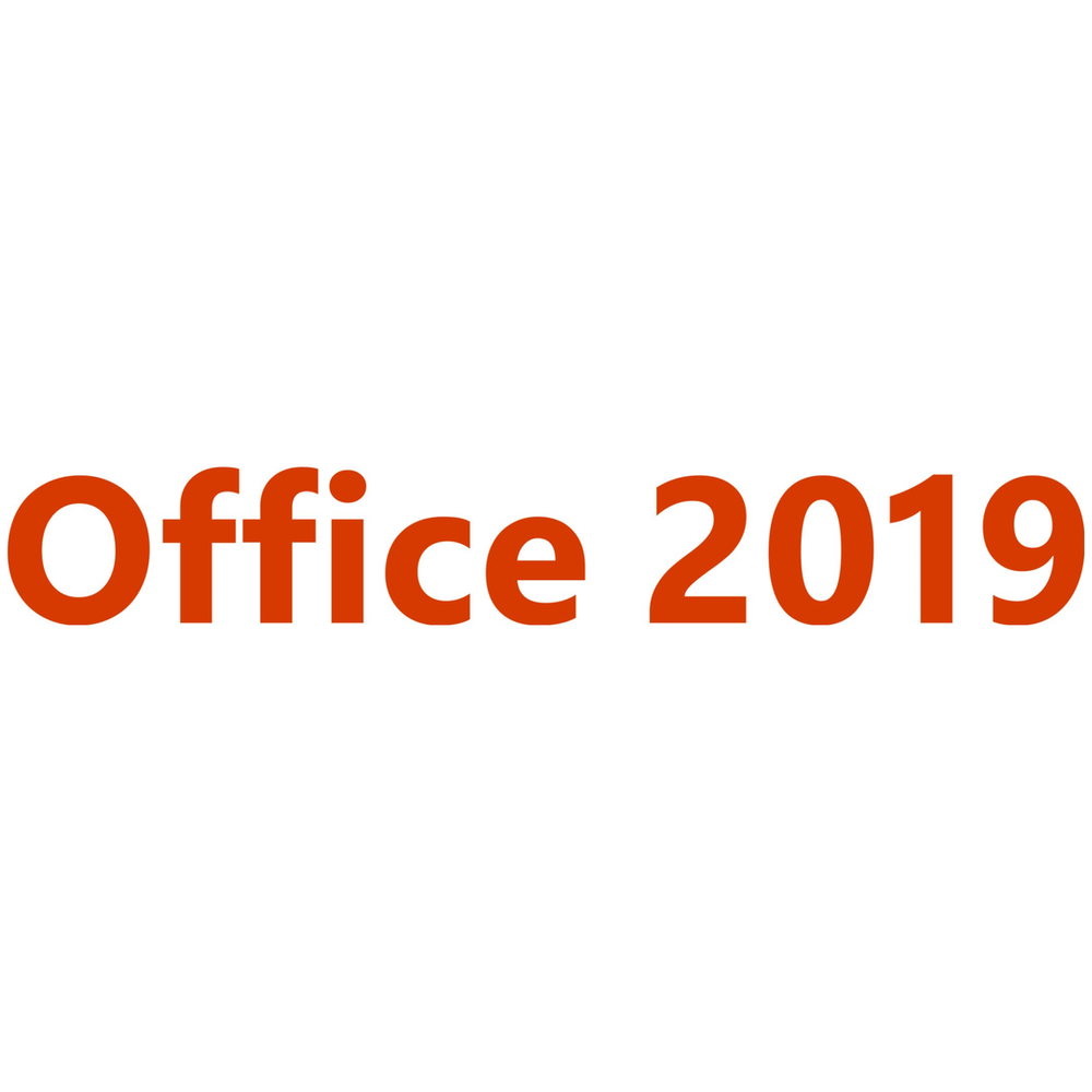 A large main feature product image of Microsoft Office 2019 Home and Business 1 User, 1 Device PC/Mac Retail PKC