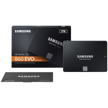 """Product image of Samsung 860 EVO Series 2.5"""" 7mm 2TB SSD - Click for product page of Samsung 860 EVO Series 2.5"""" 7mm 2TB SSD"""