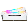 A product image of Corsair 16GB Kit (2x8GB) DDR4 Vengeance RGB PRO C16 3200Mhz - White