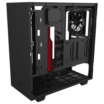 Product image of NZXT H510i Matte Black/Red Smart Mid Tower Case w/ Side Panel Window - Click for product page of NZXT H510i Matte Black/Red Smart Mid Tower Case w/ Side Panel Window
