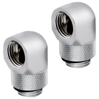 Product image of Corsair Hydro X Series XF AF Chrome 90 Degree Rotary Fitting (G1/4) 2 Pack - Click for product page of Corsair Hydro X Series XF AF Chrome 90 Degree Rotary Fitting (G1/4) 2 Pack