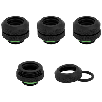 Product image of Corsair Hydro X Series XF HL Black Hardline Fittings (12mm OD) 4 Pack - Click for product page of Corsair Hydro X Series XF HL Black Hardline Fittings (12mm OD) 4 Pack