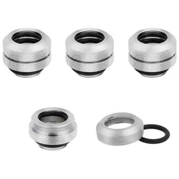 Product image of Corsair Hydro X Series XF HL Chrome Hardline Fittings (12mm OD) 4 Pack - Click for product page of Corsair Hydro X Series XF HL Chrome Hardline Fittings (12mm OD) 4 Pack