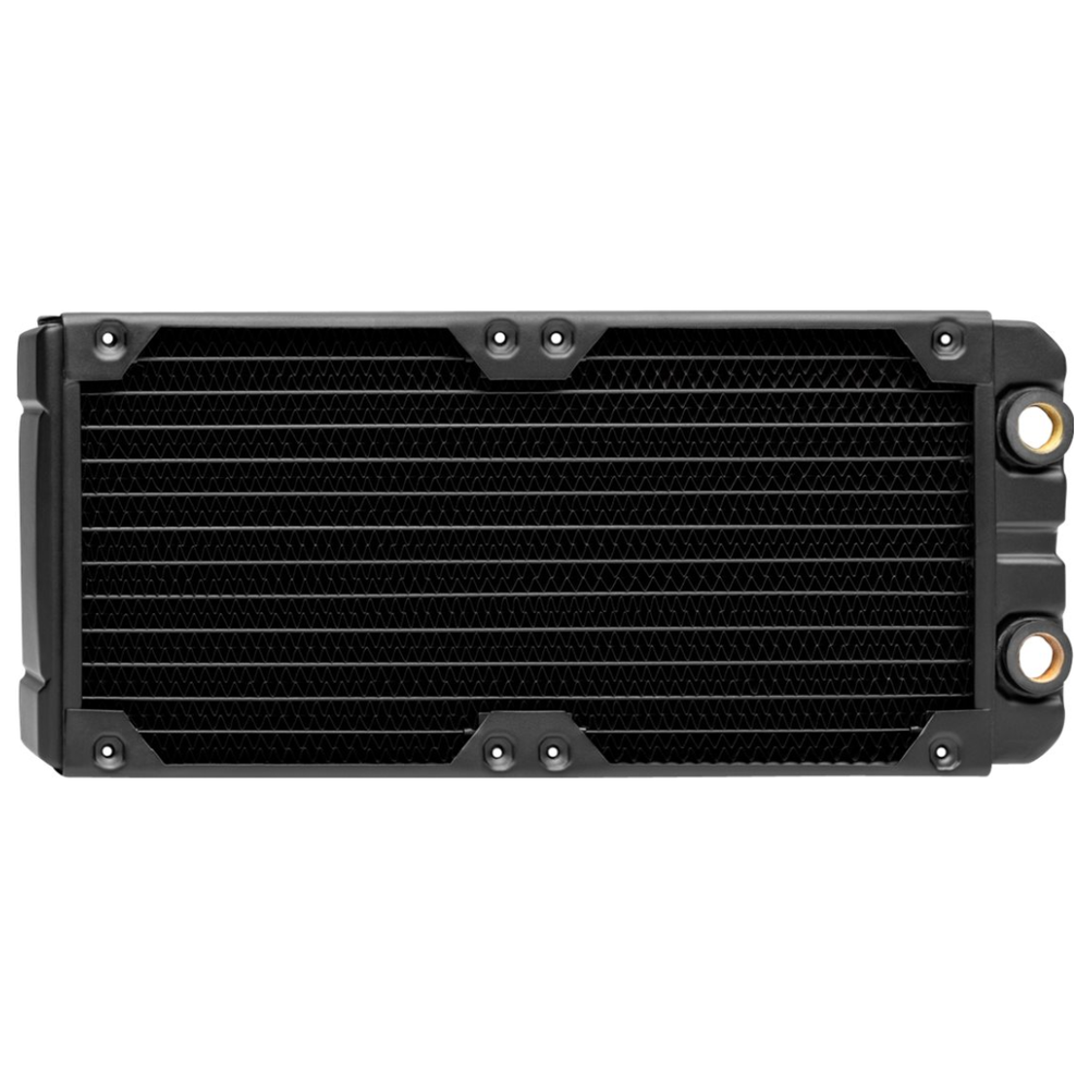 A large main feature product image of Corsair Hydro X Series XR7 240mm Radiator