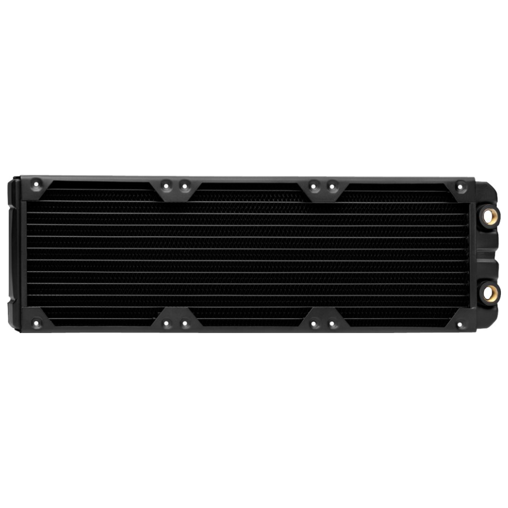 A large main feature product image of Corsair Hydro X Series XR5 360mm Radiator