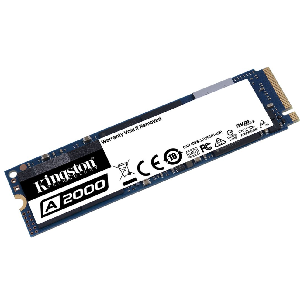A large main feature product image of Kingston A2000 1TB NVMe M.2 SSD