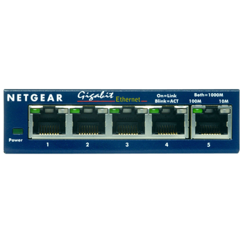 Product image of Netgear GS105 ProSafe 5-Port Unmanaged Gigabit Ethernet Switch - Click for product page of Netgear GS105 ProSafe 5-Port Unmanaged Gigabit Ethernet Switch